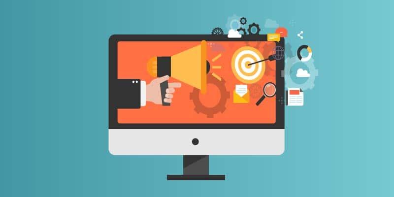tela de computador com anúncios imobiliários